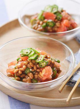 【うるおい成分たっぷり】トマト納豆