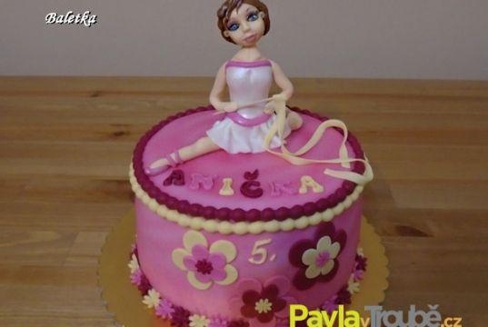 dětský dort s baletkou