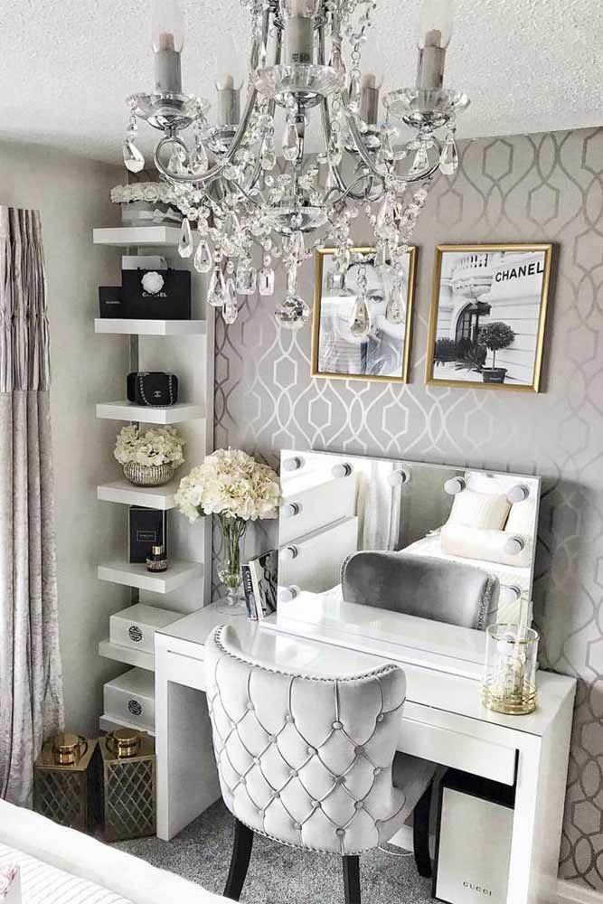 Modern Vanity Table Design With Gray Comfy Chair Graycolors A Makeup Vanity Table Is Not Just A Piece Modern Vanity Table Makeup Table Vanity Modern Vanity