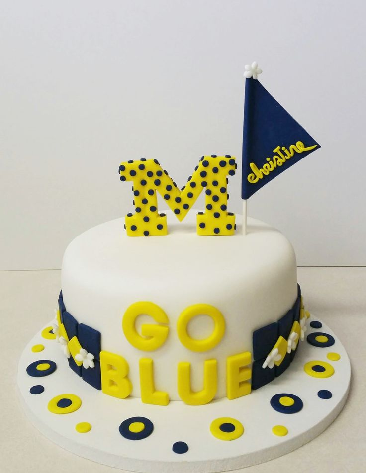 Michigan University-Go Blue birthday cake