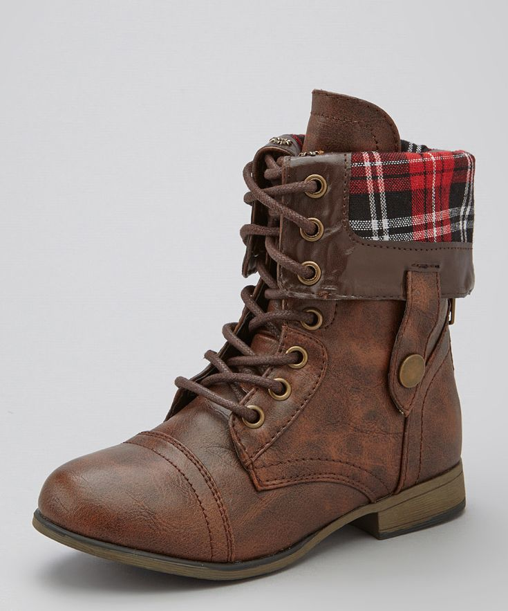 brown combat boots with plaid | Gommap Blog