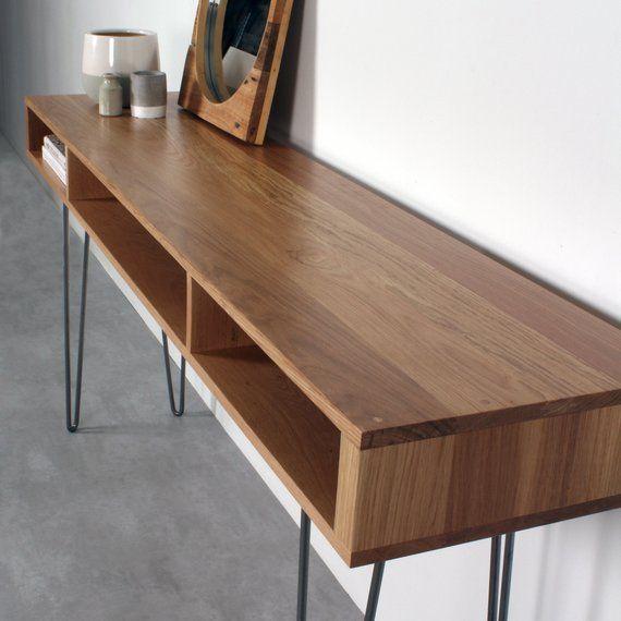 Console Table Minimalist Solud Oak