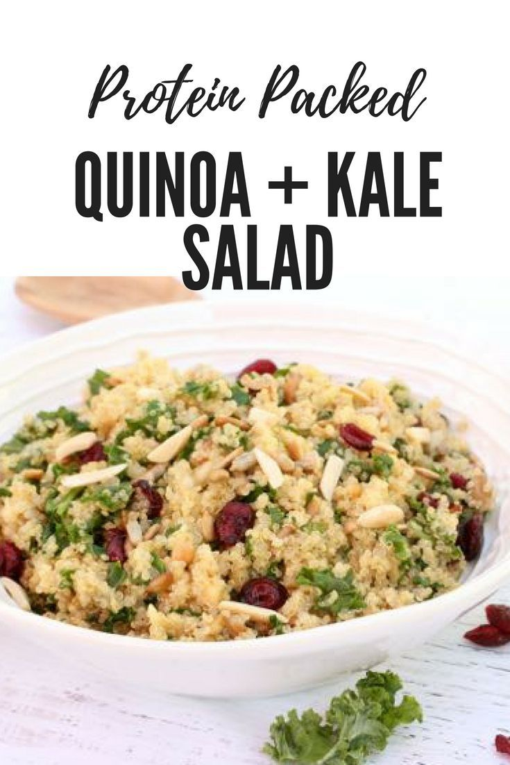 Protein Packed Quinoa Kale Salad