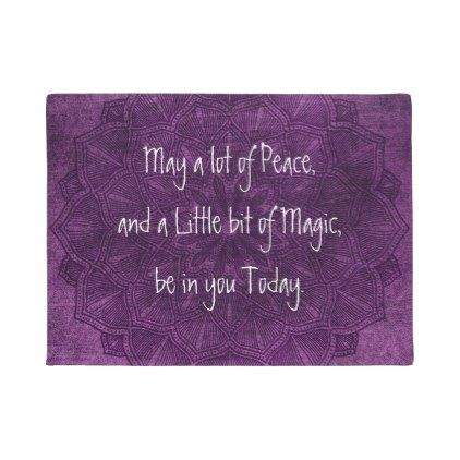 #Purple Mandala Spiritual Quote Door Mat - #doormats #home & #living