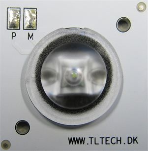 30x30 with diverging lens for emergency lighting.
