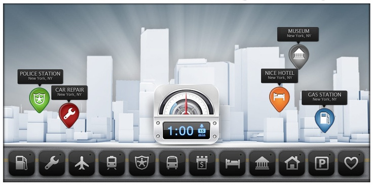 Parkbud Places  iPhone, design, UI, app, mobile, apple, UX, ios, inspiration, http://www.parkbud.com