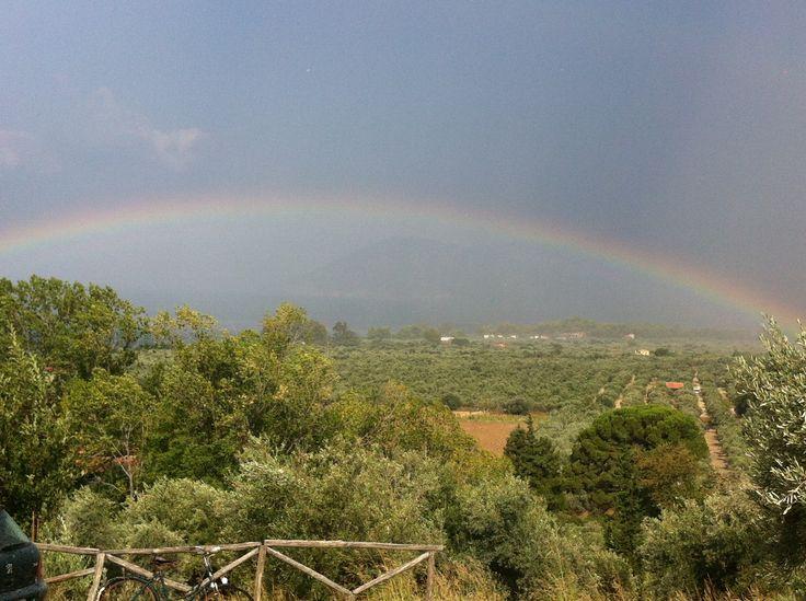 After the rain, there is a rainbow!  #rainbow #summerain #eleonashotel