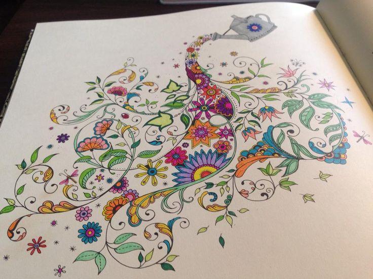 Secret Garden Colouring Book Completed