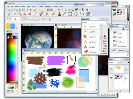 A full featured artist's studio for Windows that's easy-to-learn, powerful and affordable! The perfect tool for Artists, Photographers, Website & Graphic Designers, Desktop Publishers, PowerPoint? Users, Bloggers, App Developers & Programmers, Experienced and Novice Users Alike! It's simple enough for beginners yet packed with powerful features and advanced tools. NeoPaint makes it easy for business and home users to touch up photographs and create great looking graphics for desktop…