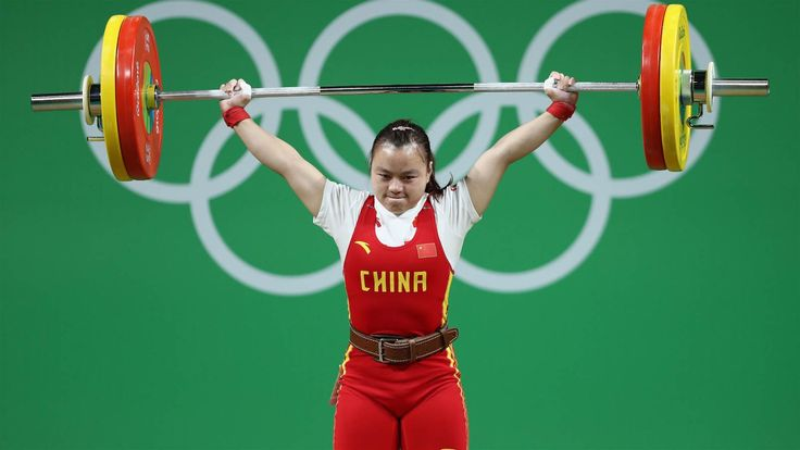OR: China's Li Yajun set an Olympic Games record, after snatching and lifting 102kg in the women's 53kg category
