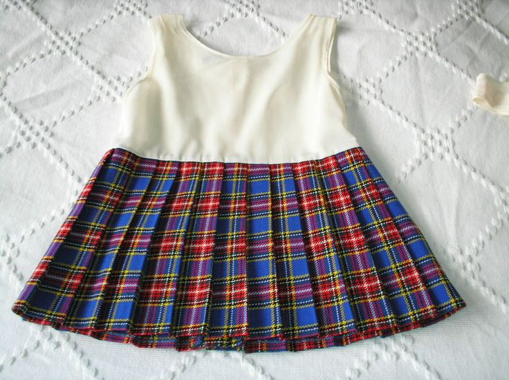 Vintage 1972 Mothercare plaid dress