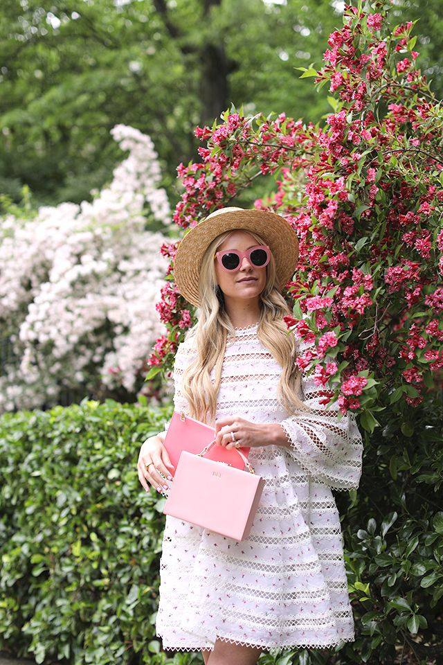 Box Bag: The Daily Edited (also in black– both can be monogrammed!). Pouch: The Daily Edited (shop all the pouches here). Monogrammed Phone Case: The Daily Edited. Dress: Zimmermann. Shoes: Chanel. Hat: Lack of Color....Read More