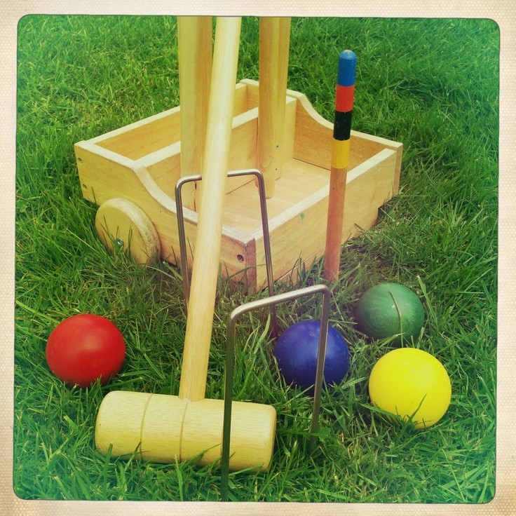 Vintage Lawn Games; Croquet to hire from  www.somethingoldsomethingnew.org.uk
