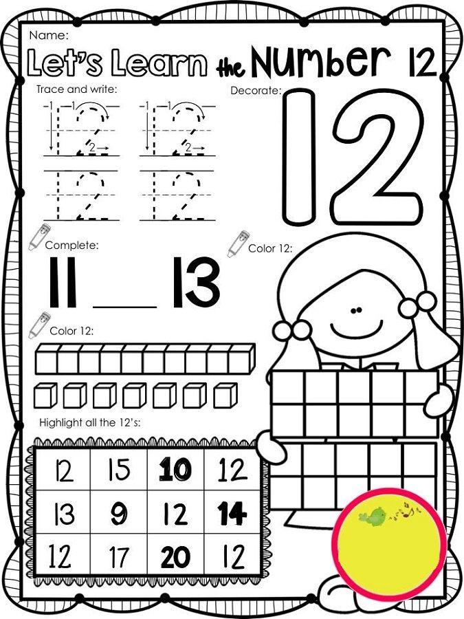 Pin On Mate 4 Preschool worksheets number 13