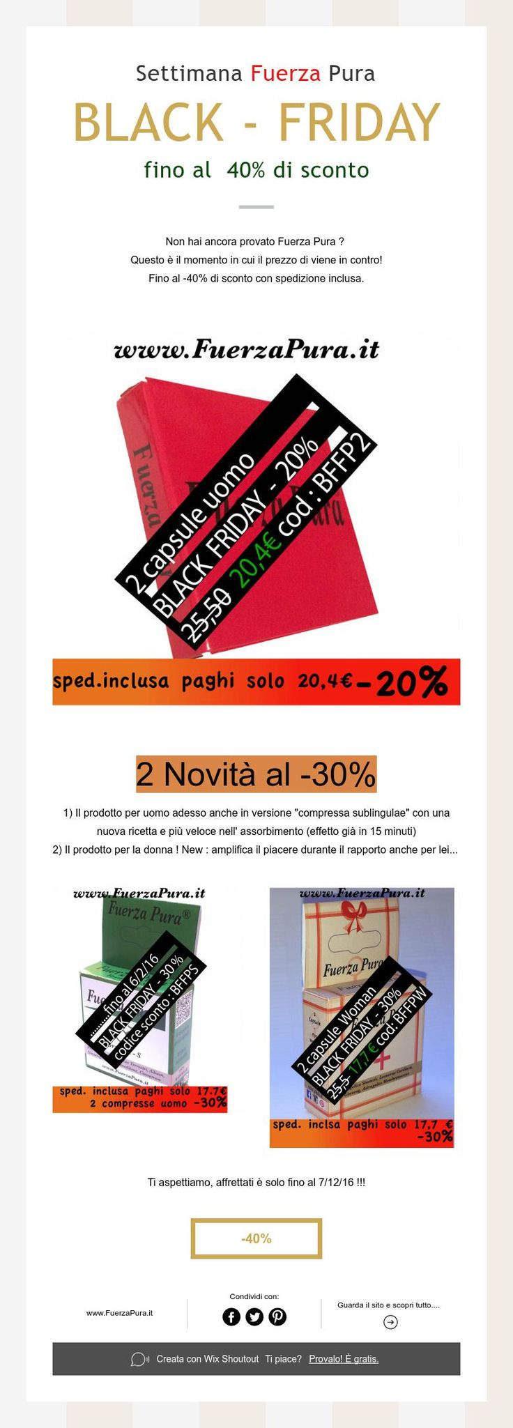 Fuerza Pura BLACK-FRIDAY - 40%