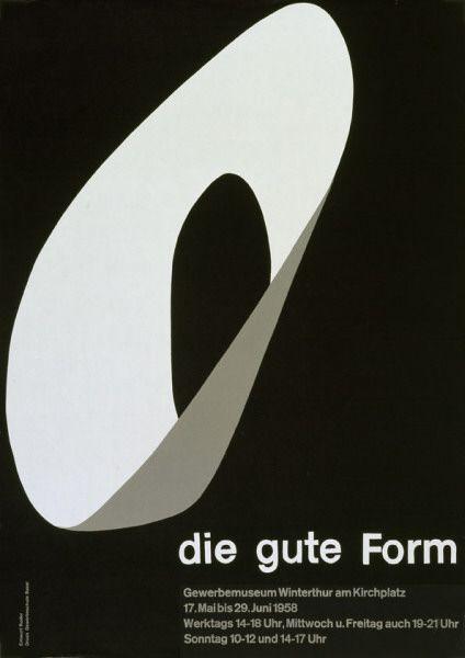 """""""Die gute form"""", poster para el Winterthur Museum. Emil Ruder, 1958"""