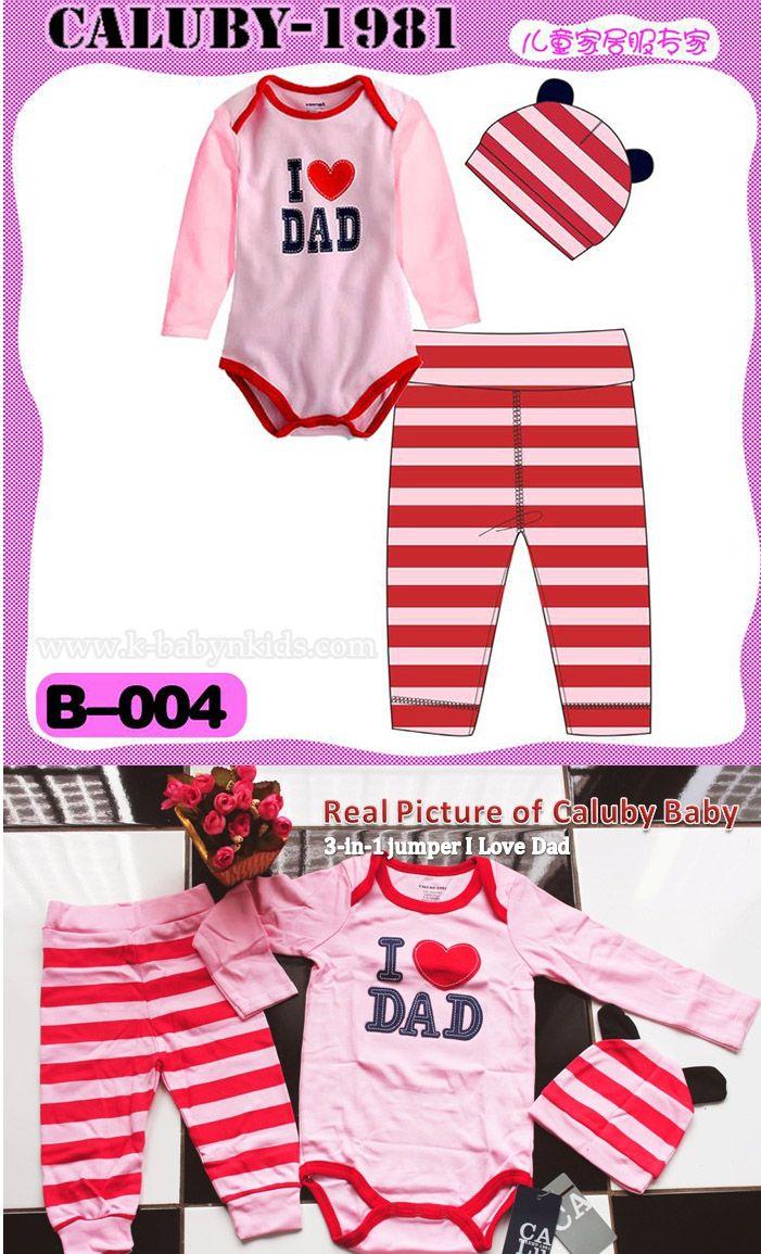 Caluby Baby 3-in-1 jumper I Love Dad Pink   k-babynkids.com   Grosir Perlengkapan Bayi, Aksesoris Bayi, Mainan Bayi