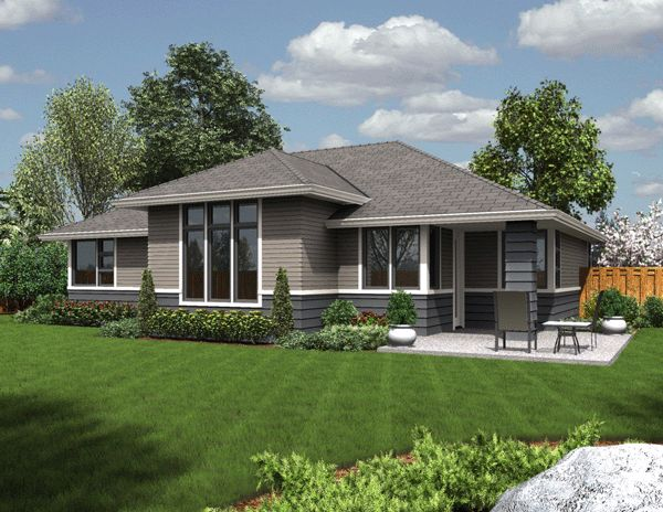 Options to ALTER interior layout. Modern Ranch House Plan 3087 - 3 Bedrooms and 2 Baths | The House Designers
