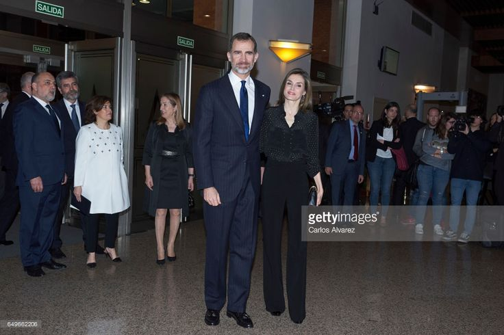 King Felipe VI of Spain and Queen Letizia of Spain attend tribute concert 'In Memoriam' for terrorism victims at the Auditorio Nacional de Musica on March 8, 2017 in Madrid, Spain.