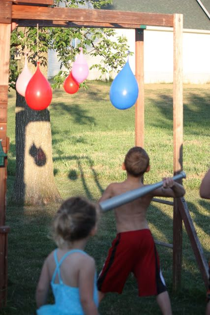 Water Ballon Piñatas via  Sister-Dipity: 4th of July Party