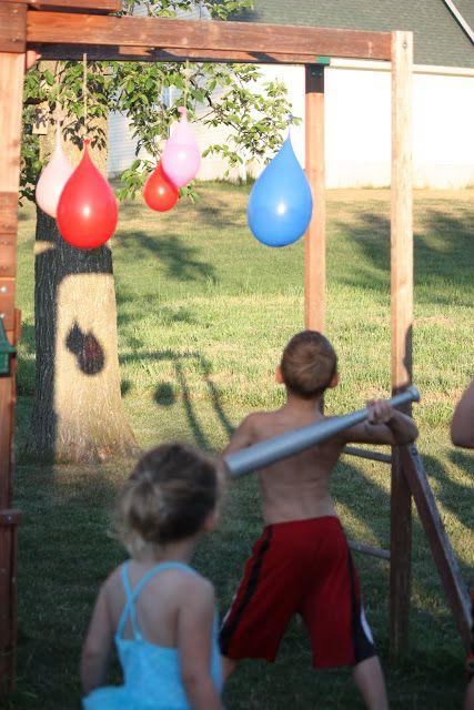 Water Ballon Piñatas via  Sister-Dipity: 4th of July Party