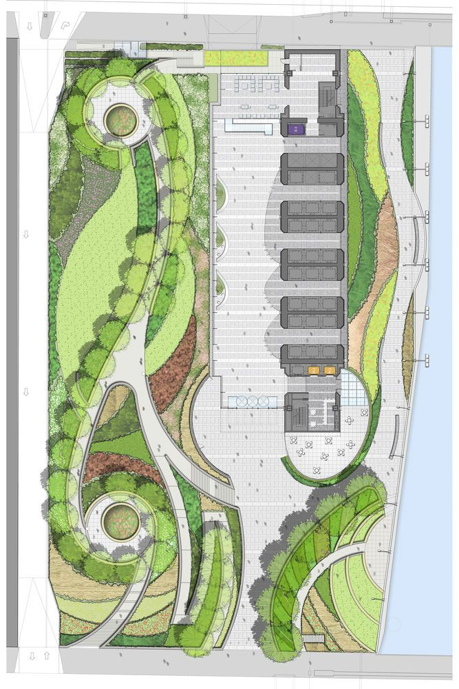 Site Plan - Courtesy of Goettsch Partners