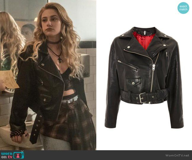 c03d96b9884 Betty Young Alice s leather jacket on Riverdale. Outfit Details  https