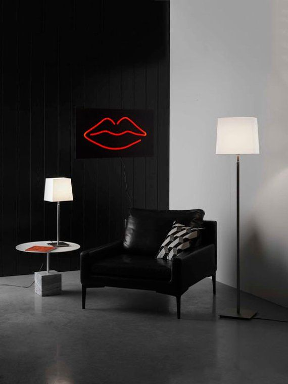 Man Cave Wall Light Neon Sign Style Lips Led Technology Wall