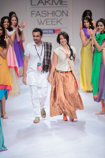 Mayank Anand Shraddha Nigam Lakme Fashion Week Winter Festive 2017