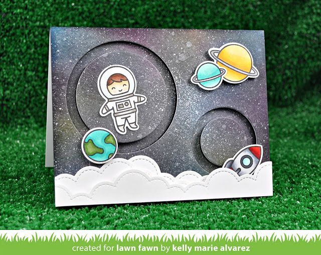 20 Feb 2017 : Lawn Fawn Blog : Intro to Slide On Over Circles + 2 cards from start to finish