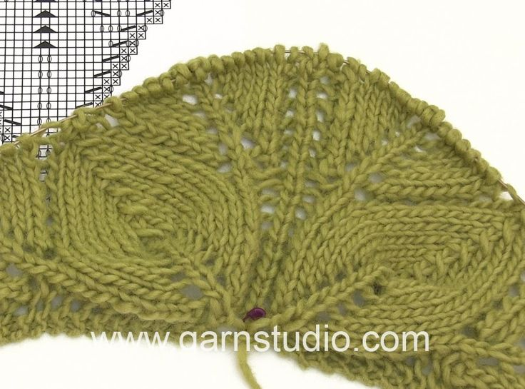 DROPS Knitting Tutorial: How to work the beginning of the shawl in DROPS...