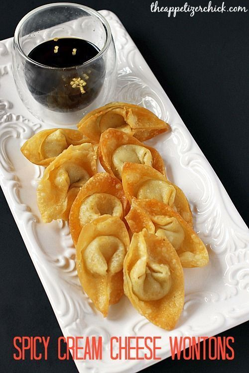Spicy Cream Cheese Wontons are the perfect appetizer for New Year's Eve or a special event.