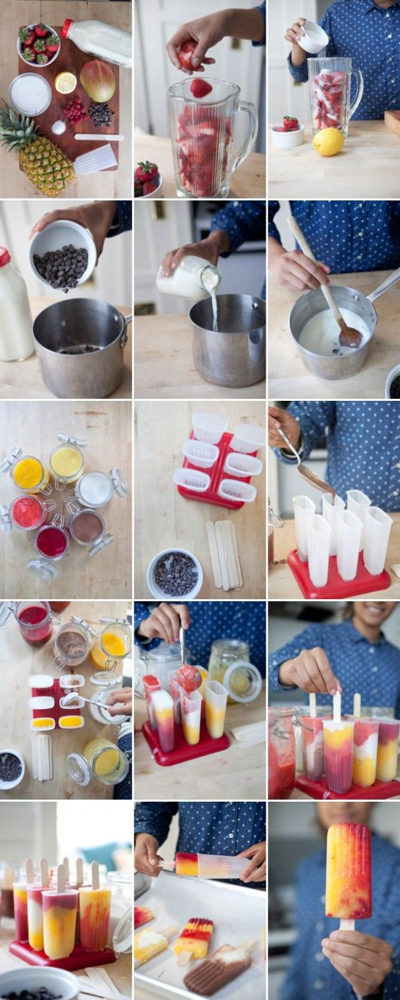 Mix And Match Popsicles | Oh Happy Day!