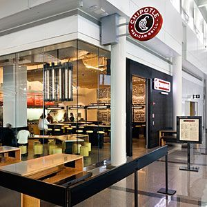 Chipotle's clean lines at Washington Dulles International Airport, Virginia