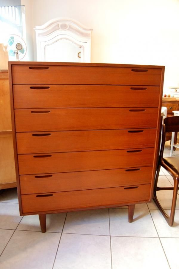commode semainier scandinave vintage ann es 60 teck for my home pinterest. Black Bedroom Furniture Sets. Home Design Ideas