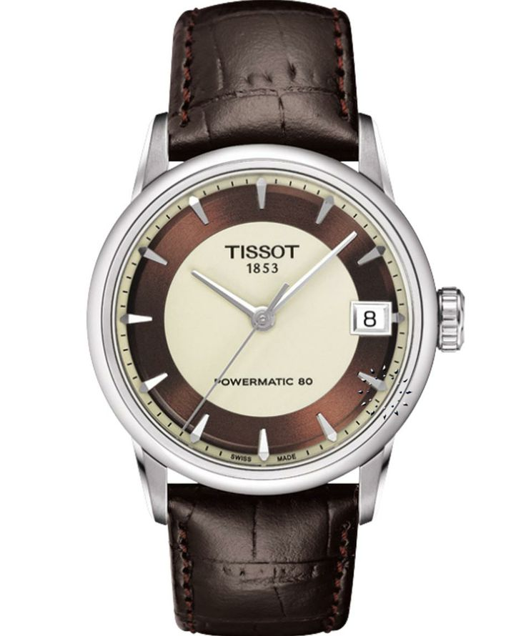 TISSOT Ladies Luxury Powermatic 80 Brown Leather Strap Η τιμή μας: 584€ http://www.oroloi.gr/product_info.php?products_id=39256