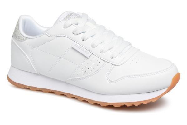 Skechers OG 85 Old School Cool, Baskets Hautes Femme, Blanc