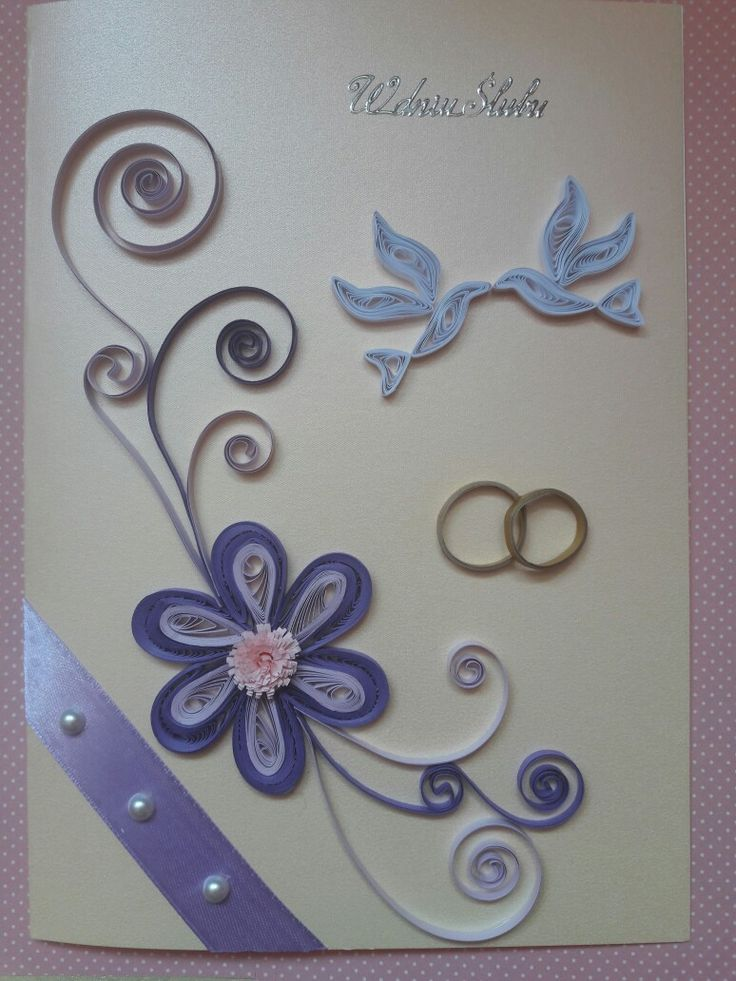 Wedding card quilling