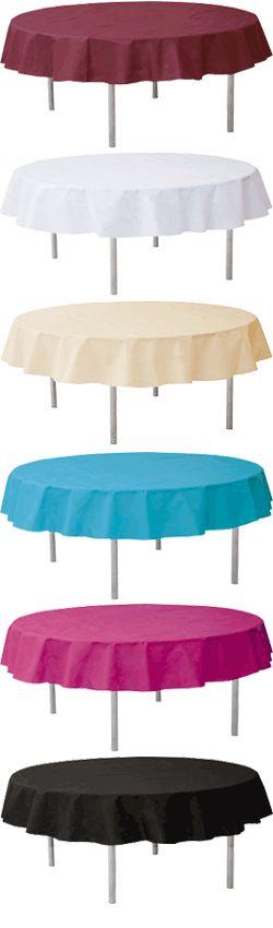 la nappe ronde en tissu intiss opaque parfaite pour habiller vos tables invits existe - Nappe Ronde Mariage