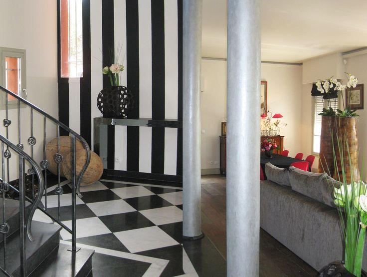 Maison au Raincy #house #hall #livingroom Agence MOHA