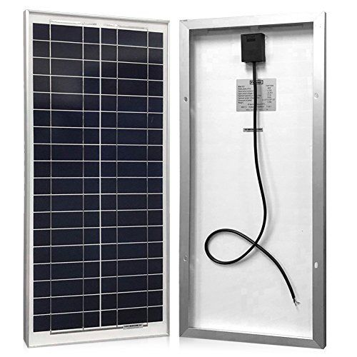 Solar Panel 40 Watt, Powereco 40W Polycrystalline Solar Charger for 12V Battery Charging  The Polycrystalline PV panel with a high efficient module conversion providing 40w power  Solar charger for all 12V batteries (Series circuit to charge 24V, 36V or 48V) with its 18V optimum power voltage.  Widely applied to off-grid 12 Voltage system of caravan, RV, car, boat, green house, marine, dry camping, garden watering etc (powereco charge controller ASIN: B071D9LBPP)  Weather resistant: wa...