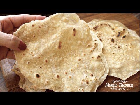 Como fazer Pão Chapati, pão indiano, sem fermentação, leve de fácil digestão e muito prático feito na frigideira na boca do fogão