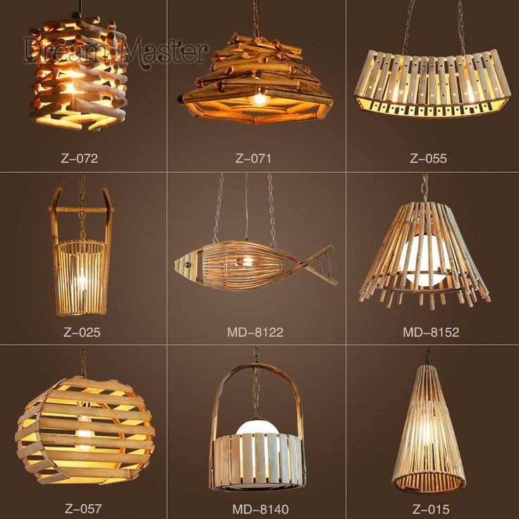 [Visit to Buy] Chinese style creative personality bamboo and rattan chandeliers restaurants coffee shops retro bars bedroom Japanese chandelier #Advertisement