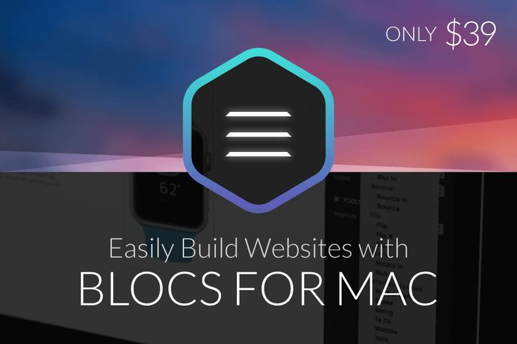 Easily Build Websites with Blocs For Mac - only $39! NOW ON: Easily Build Websites with Blocs For Mac - only $39!  Expires: December 8 2017 11:59 pm EST  Forget about burning your brain fuel learning how to program. If you want to build your own website it couldn't be easier than with the visual Web design app Blocs for Mac! Simple to use this intuitive interface allows you to choose a variety of content blocs as you create a fully responsive CMS-driven website.  Highlights:  Easily create beautiful modern websites.  No coding experience necessary.  Simple interface - click select edit and stack different content blocs.  Customizable - change up fonts add animation incorporate comments.  Responsive design - your site will easily work on any screen size.  Introduction To Blocs:  Pricing:  Normally Blocs for Mac sells for $79 but for a limited time only you can get this incredible app for only $39!That's less than halfthe regular price.  Click the BUY NOW button to start building your site today!  Deal terms:  You will receive a voucher code which you must redeem to claim your product key.  Each product key can authorise any two Macs.  14-day money-back guarantee.