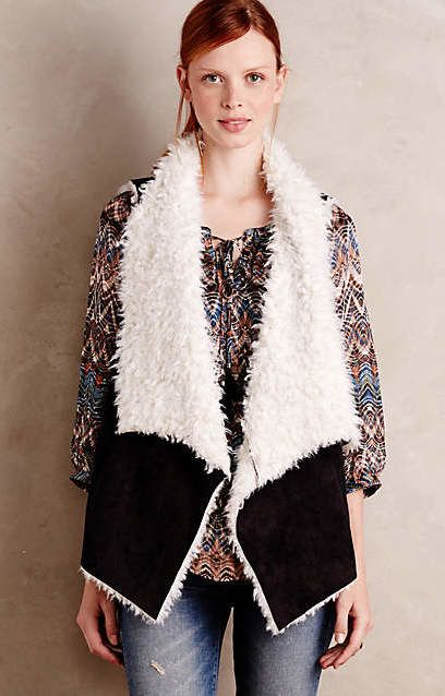 Draped Sherpa Vest #anthrofave