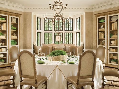 Anchored By Four Polychromed Cabinets, The Room Is Reminiscent Of A  European Breakfast Room, Set With Eighteenth Century French Porcelain,  Antique And New ...