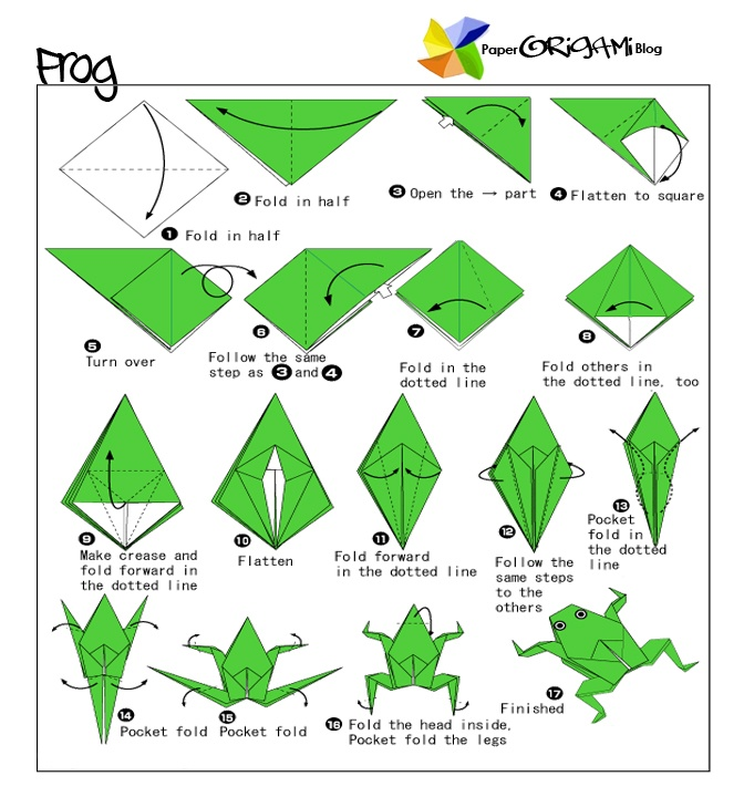 How to fold a frog google search