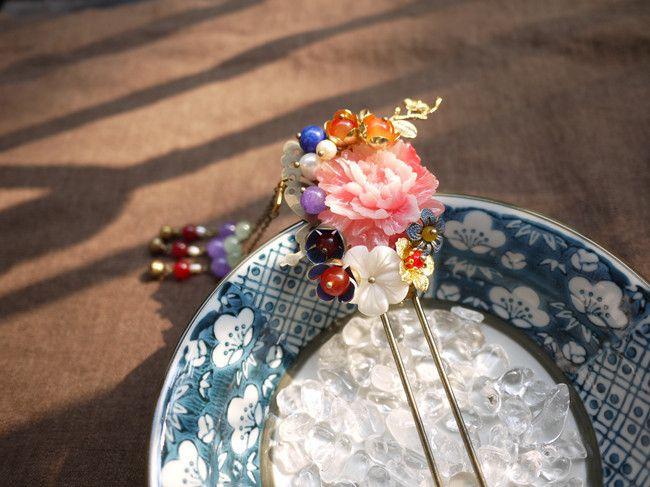 """""""羽霞"""" Handmade Chinese Traditional Hairpins"""