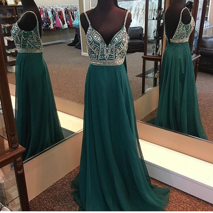 emerald green prom dress,long evening gowns,sexy prom dress,