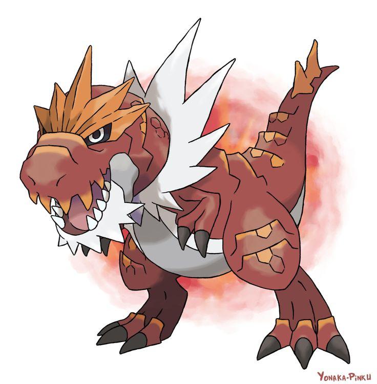 Love this new pokemon! - Tyrantrum by Yonaka-pinku.deviantart.com on @deviantART
